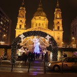 Christmas Market in front of St Stephens Basilica