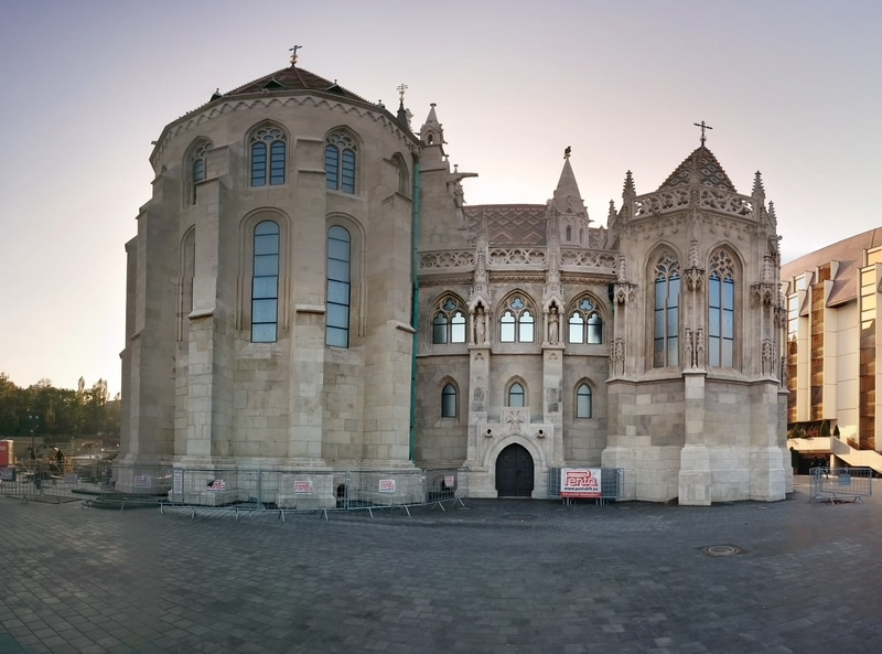 Strange panorama shot of Matthias Church