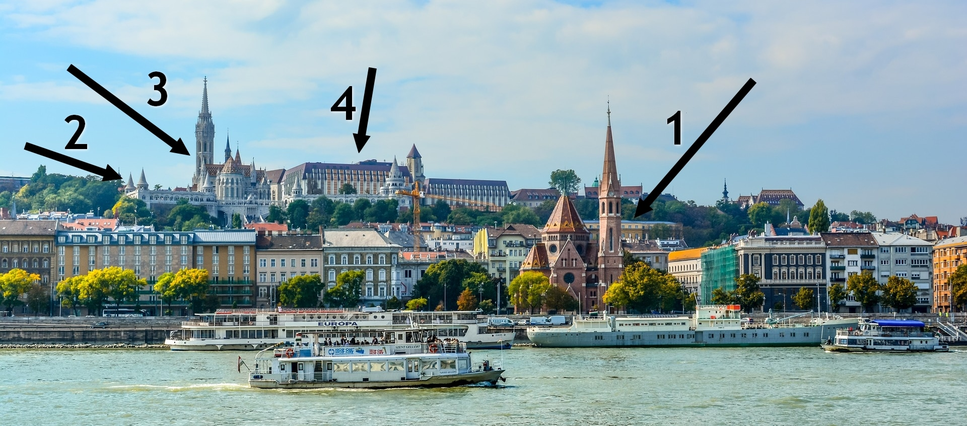 Panorama towards the Buda side from tram line 2 - Source: Pixabay