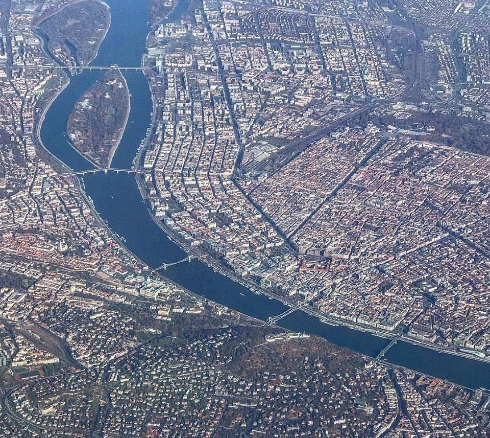 Budapest seen from the flight!