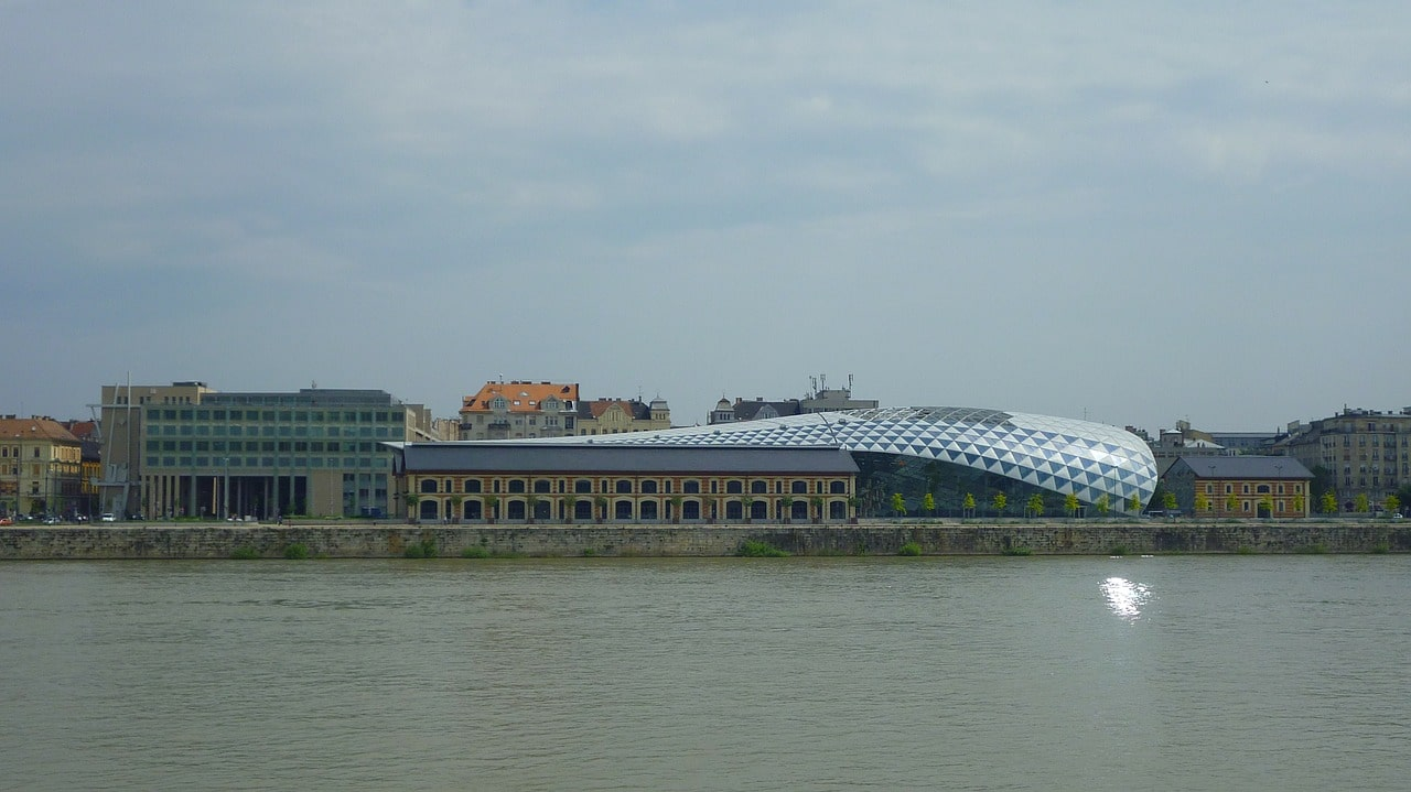The Whale shaped building in Budapest