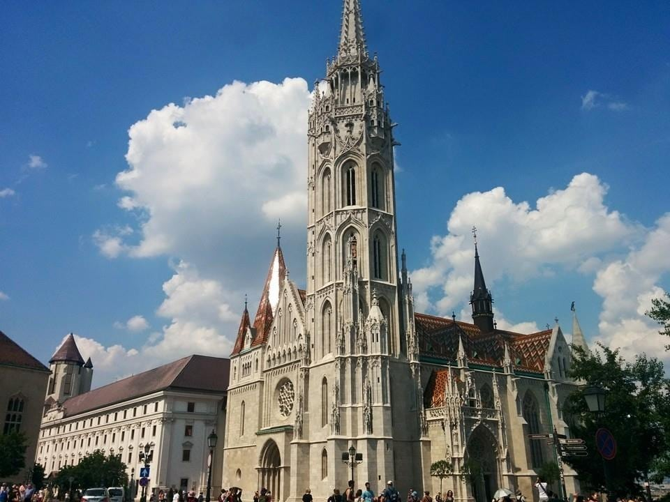 The Matthias Church seen up-front.
