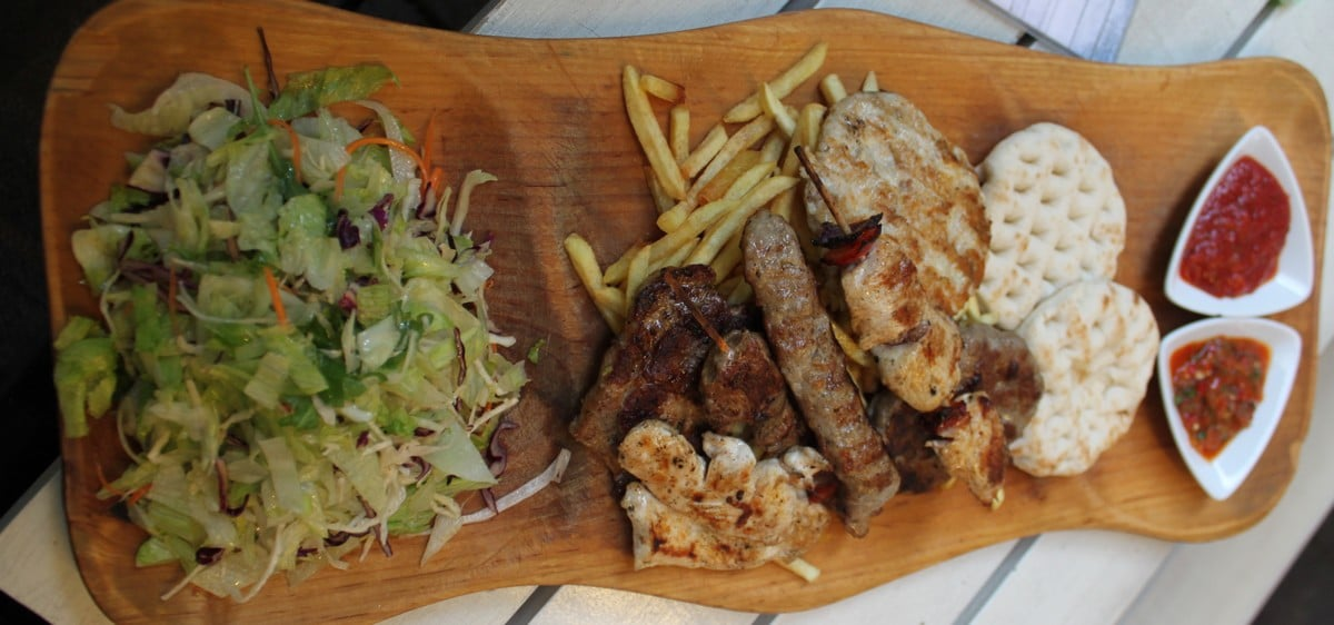 A grill-plate for two at Grillmania Budapest