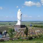 The biggest Jesus statue in Hungary - Blessing Jesus statue in Tarcal