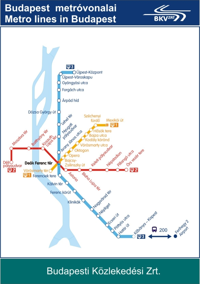 Budapest Subway Map English.Budapest Metro Map