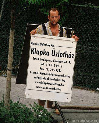 Bruce Willis walking in Budapest?