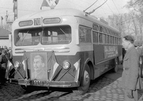 Communist bus in Budapest