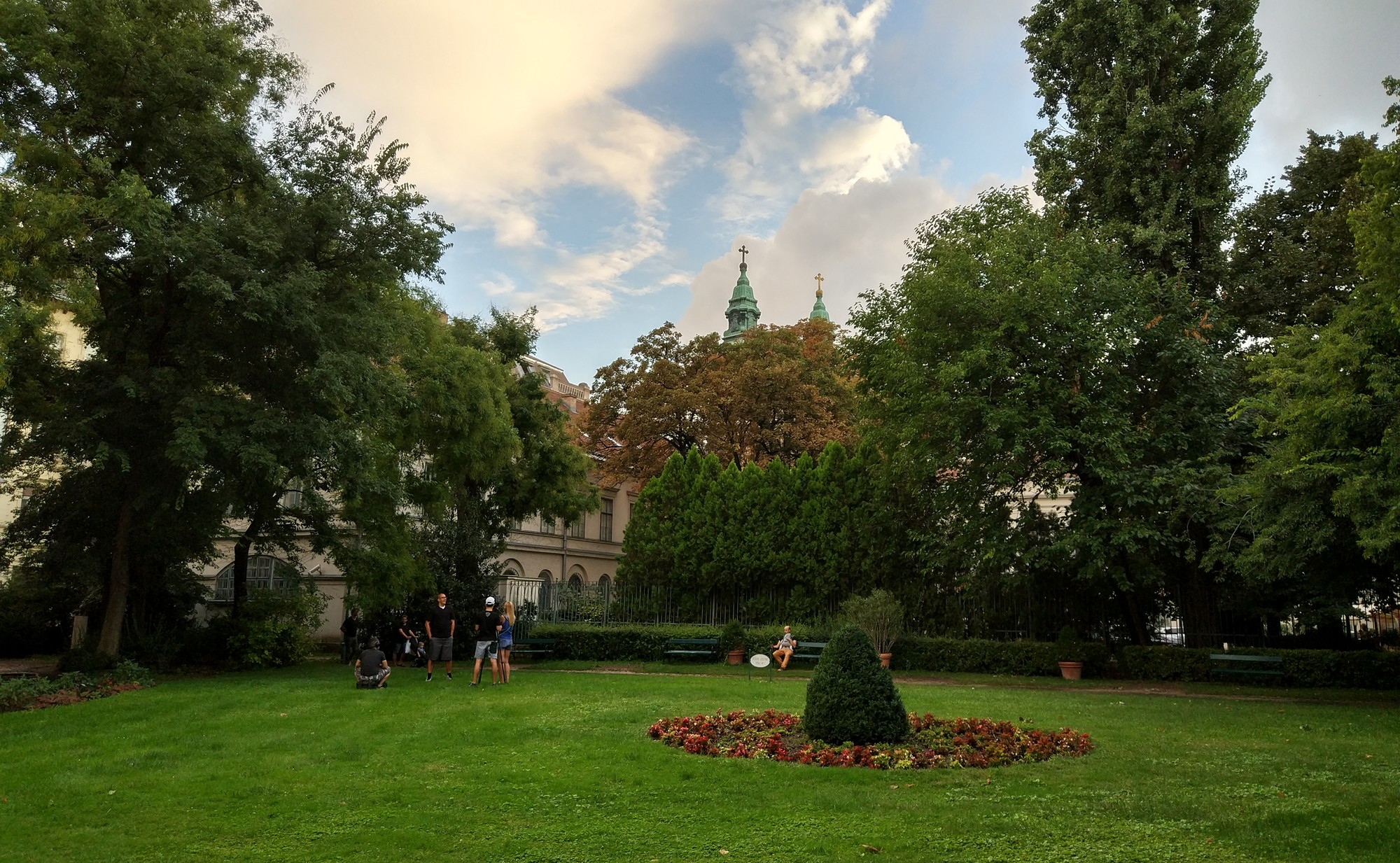 The beautiful Karolyi garden in the heart of Budapest.