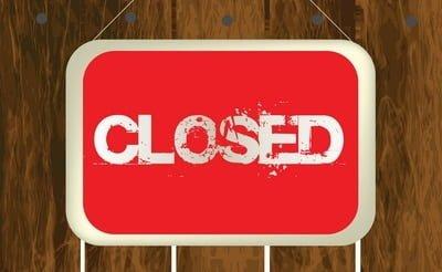 Shops closed on Sundays