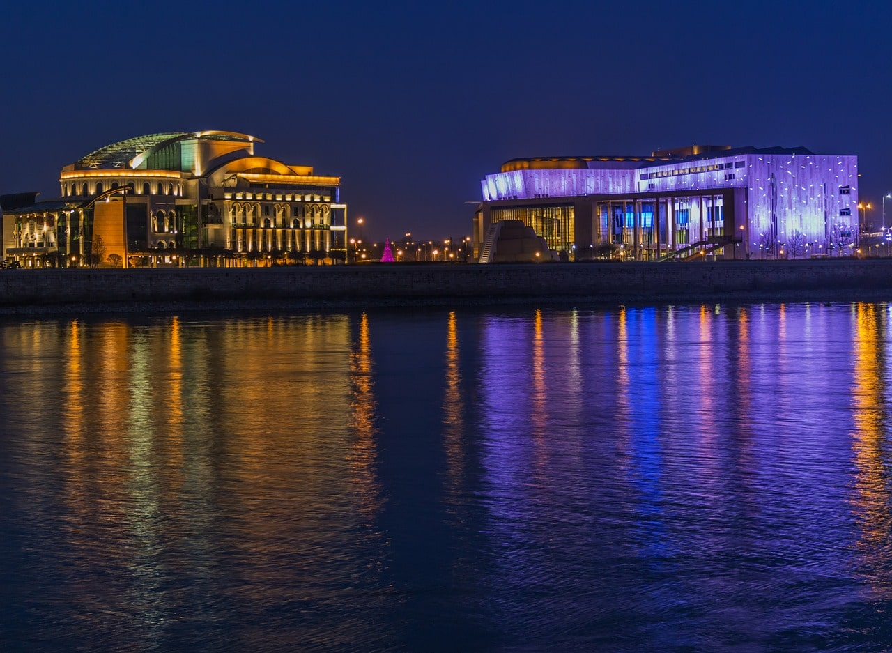 The National Theater in Budapest and the Palace of Arts