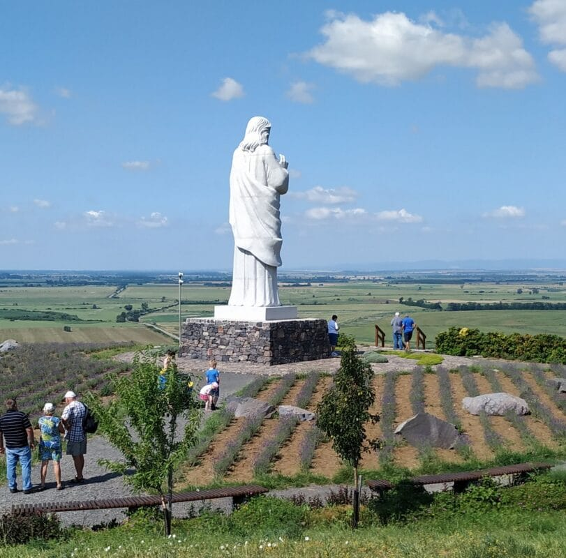 The Jesus statue in Tarcal