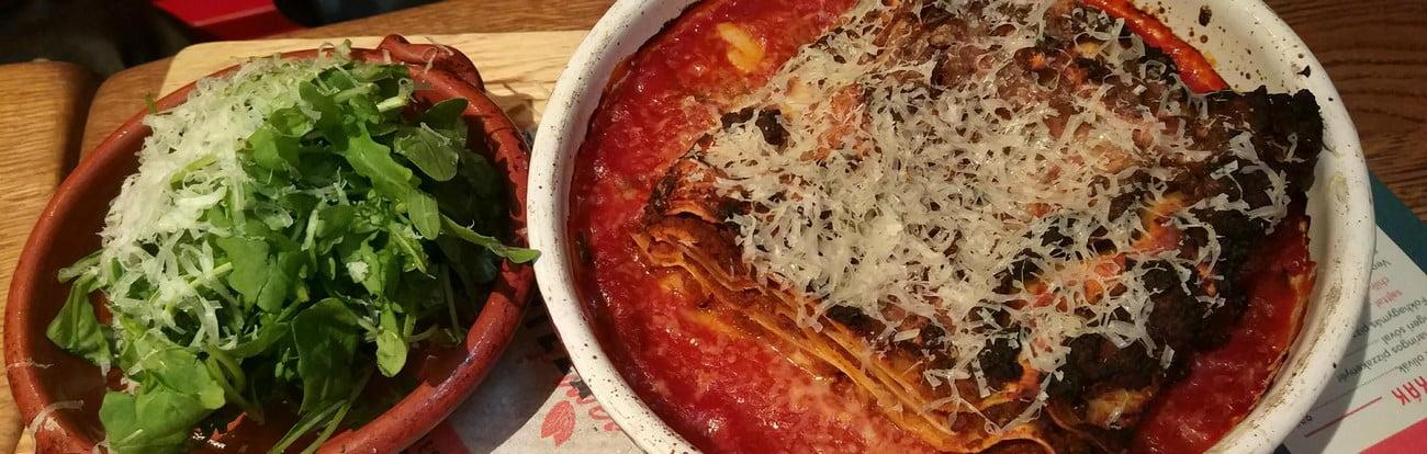 lasagne in jamie oliver pizzeria