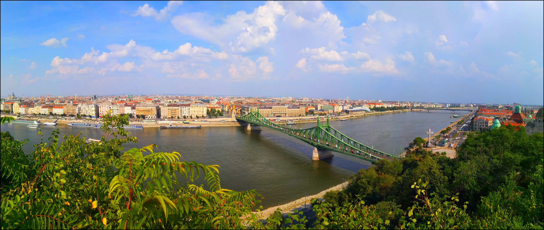 liberty bridge panorama