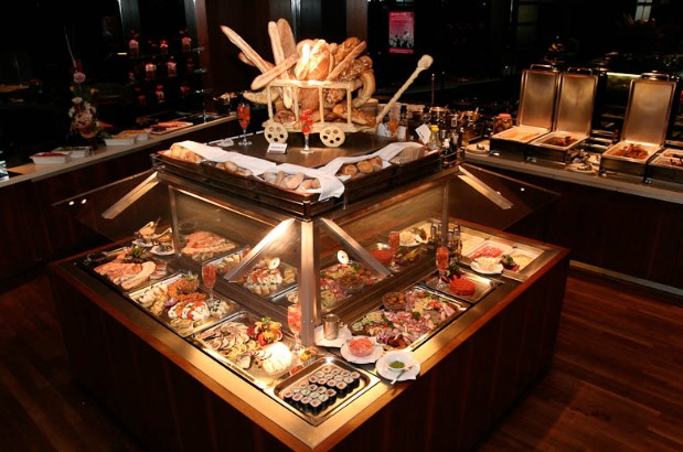 Buffet dinner in Trofea Grill Budapest